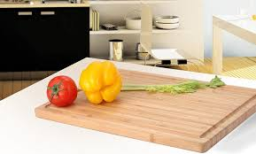 Countertop Cutting Board Amazon Com Extra Large Bamboo Cutting Board 17 By 12 Inch