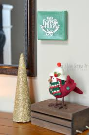 10 minute christmas craft christmas canvas artwork as mom sees it