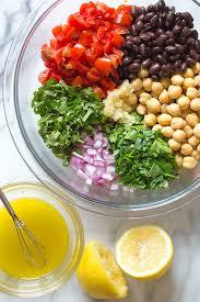mediterranean bean salad skinnytaste