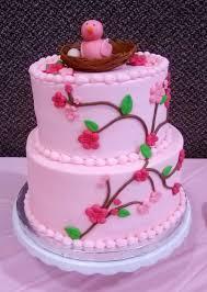 simply sweet birds nest baby shower cake