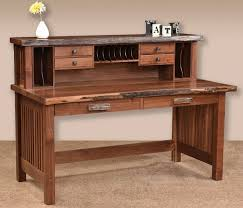 Solid Computer Desk Solid Wood Computer Desk With Hutch Hardwood Office