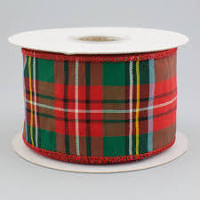 plaid ribbon 2 5 taffeta alford plaid ribbon 10 yards 92351w 065 40f