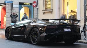 Lamborghini Aventador All Black - black lamborghini aventador sv roadster in milan youtube