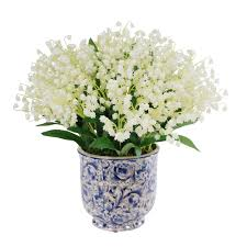 of the valley bouquet of the valley bouquet in blue white ceramic vase 14