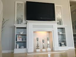 awesome fake fireplace mantel suzannawinter com