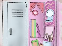 Magnetic Locker Wallpaper by How To Decorate A Locker 6 Steps With Pictures Wikihow