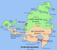 Grand Cayman Map This Map Shows The French Overseas Department Of Saint Martin