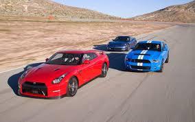 nissan gtr vs corvette z06 motor trend comparision test corvette z06 vs shelby gt500 vs