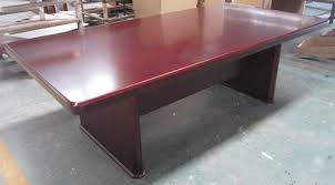 associate series wood 10 x 5 foot conference table mahogany