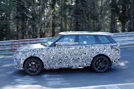light blue land rover 2018 range rover sport svr shows production lights exhaust tips