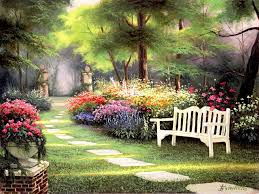 famous flower garden paintings pesquisa google chairs in