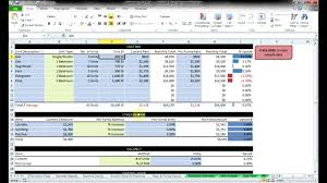 Discounted Flow Analysis Excel Template Commercial Estate Flow Models By Resheets Com