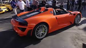orange porsche orange porsche 918 spyder at lamborghini newport beach youtube