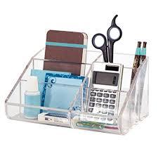 Clear Desk Organizer Clear Plastic Desktop Organizer Home Kitchen