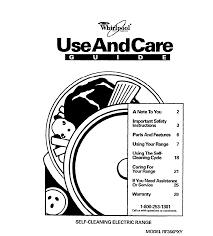 whirlpool range rf366pxy user guide manualsonline com
