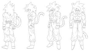 goten and trunks super saiyan coloring pages ssj4 gogeta vegetto