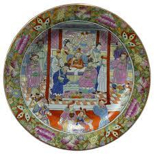 canton porcelain porcelain canton color scenery plate asian decorative