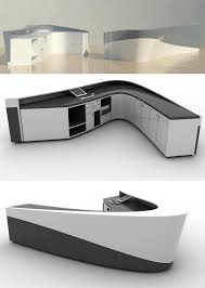 Rem Suflo Reception Desk C Shape Acrylic Marble Receiption Counter Half Round Acrylic