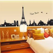 ay935 i love paris wall sticker eiffel tower home decor black
