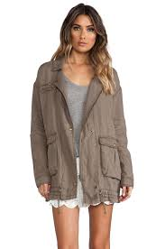 Rugged Clothing Free People Rugged Embroidered Twill Jacket In French Olive Revolve