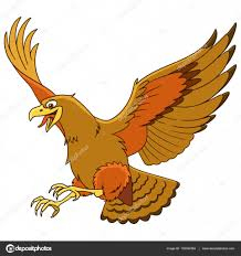 cartoon eagle bird u2014 stock vector sybirko 132352384