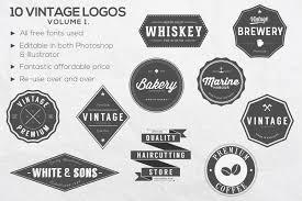 design a vintage logo free 10 vintage logos vol 1 logo templates creative market