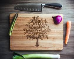 personalised cutting boards large solid birch wood chopping board personalised by lankycow
