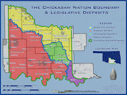 Oklahoma Counties Map Geographic Information Chickasaw Nation
