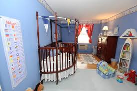 nautical crib bedding in nursery eclectic with space saver bed