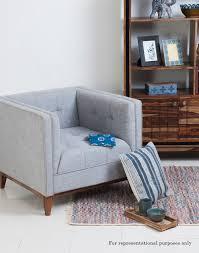 buy fabindia brown sheesham obra single seater sofa online