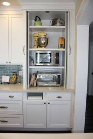 hidden microwave and toaster oven Plug In My World