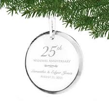 wedding anniversary ornaments 25th wedding anniversary ornament