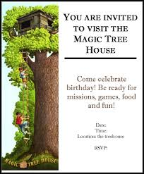 Chickenville Magic Tree House Birthday Party
