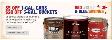 home depot behr paint sale black friday home depot 5 off 1 gallon paint cans or 20 off 5 gallon paint