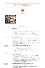 Crew Chief Resume Crew Trainer Resume Samples Visualcv Resume Samples Database
