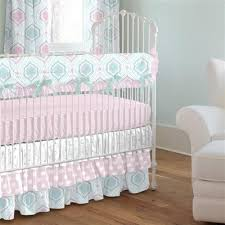Pink And Aqua Crib Bedding Pink And Aqua Moroccan Damask Crib Bedding Carousel Designs