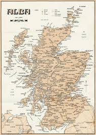 gaelic map of scotland and gaelic place names scotclans