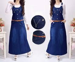 Baju Atasan Rok Levis rok kodok panjang model terbaru cantik murah