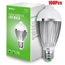 pir led light bulb 100pcs e27 7w infrared motion detection light sensor pir led light