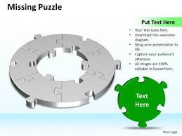 ppt 3d circular missing puzzle powerpoint free piece 6 state