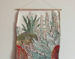 cactus wall hanging etsy