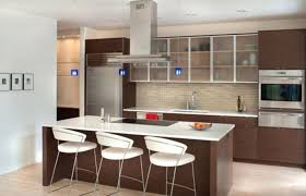 classic kitchen furniture in minimalist white house with modern
