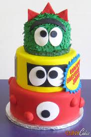 yo gabba gabba 3 tier faces cake cmny cakes