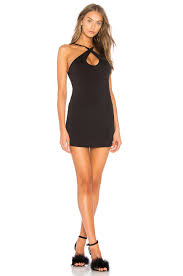 motel dresses motel oliviera dress in black revolve