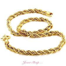 bracelet chain gold man images Creative chain spiral twine 18k gold plated necklace men online jpg