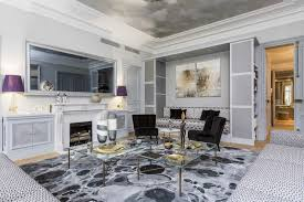 The Living Room Salon Apartment For Sale On Avenue Marceau In Paris With A View Of The