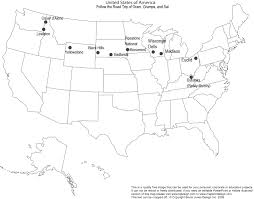 Blank Usa Maps by Mapping The Journey Lessons Tes Teach