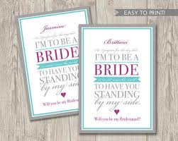 bridesmaid invitations will you be my bridesmaid vows card be my guest will you be my