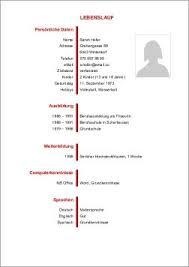 Cv Vorlage Schweiz Word Lebenslaufvorlage24 Ch