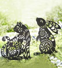 Metal Garden Art Go7732 Dandelion Silhouette Metal Garden Stake Wind And